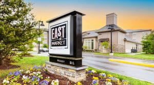East of Market exterior sign